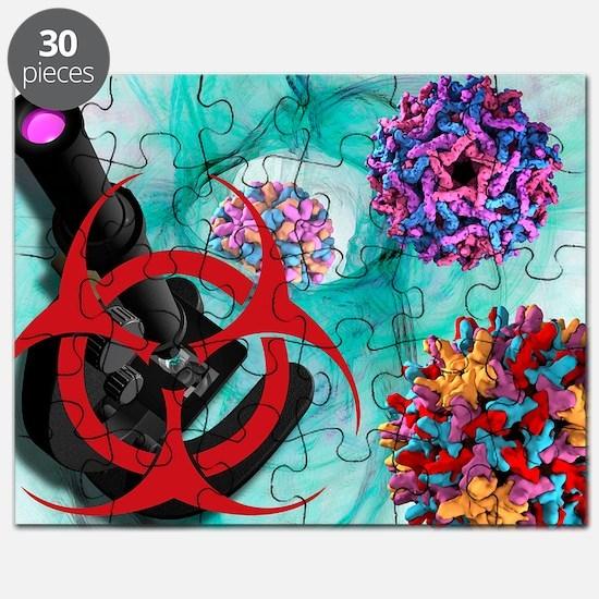 Viral pathogens, conceptual artwork - Puzzle