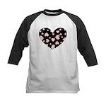 pink hearts blk bgrd Baseball Jersey