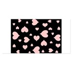 pink hearts blk bgrd 4x8 Flat Cards (Set of 20)