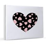 Pink Hearts Blk Bgrd 8x10 Canvas Print