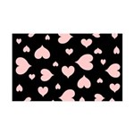 pink hearts blk bgrd Wall Decal
