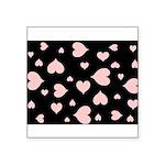 pink hearts blk bgrd Sticker