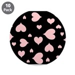 """pink hearts blk bgrd 3.5"""" Button (Pk of 10)"""