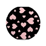 """pink hearts blk bgrd 3.5"""" Button (Pk of 100)"""