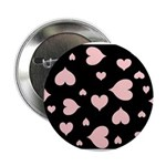 """pink hearts blk bgrd 2.25"""" Button (Pk of 100)"""