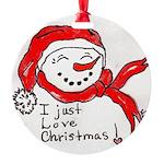 pink hearts blk bgrd Ornament