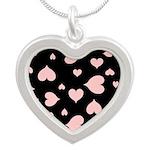 pink hearts blk bgrd Necklaces
