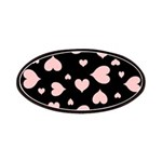 pink hearts blk bgrd Patch