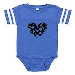Hearts Baby Football Bodysuit