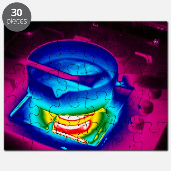 Cooking on a gas stove, thermogram - Puzzle