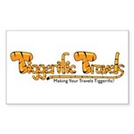 Tiggerific Travels Sticker (Rectangle 10 pk)