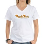 Tiggerific Travels Women's V-Neck T-Shirt
