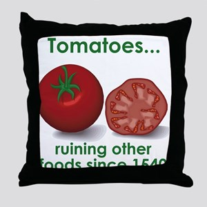 Tomatoes Suck Throw Pillow