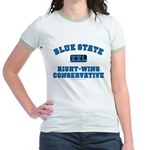 Blue State Right-Wing Jr. Ringer T-Shirt