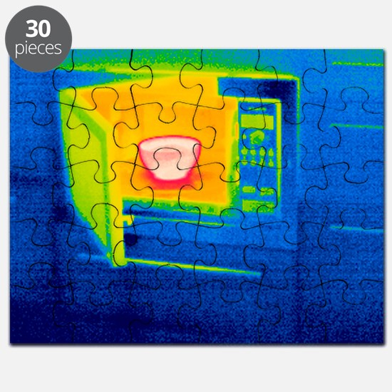 Microwave oven, thermogram - Puzzle