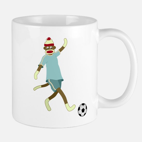 Sock Monkey Soccer Player Coffee Mug
