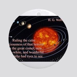Ruling The Calm Spaciousness - H G Wells Round Orn