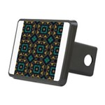 Green and Gold Pattern Rectangular Hitch Cover