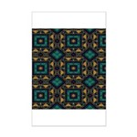 Green and Gold Pattern Mini Poster Print