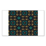 Green and Gold Pattern Sticker (Rectangle 10 pk)