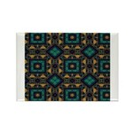 Green and Gold Pattern Rectangle Magnet