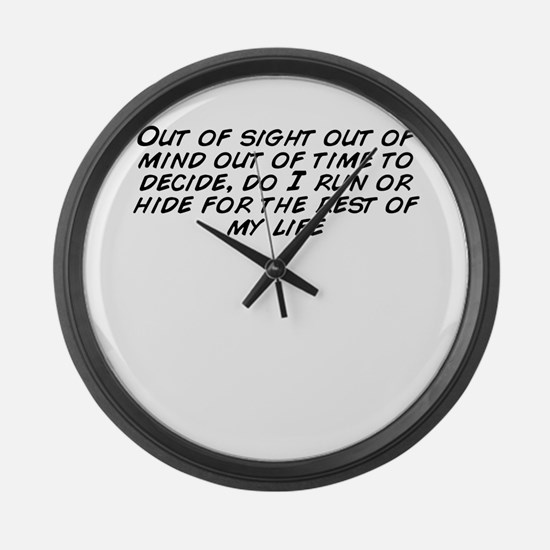 Cute Time out Large Wall Clock