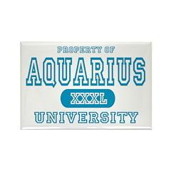 Aquarius University Property Rectangle Magnet