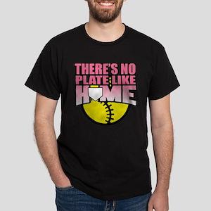Softball No Plate Like Home Dark T-Shirt