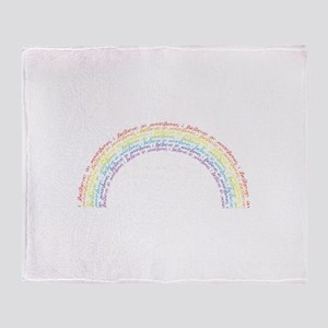 I Believe In Rainbows Throw Blanket