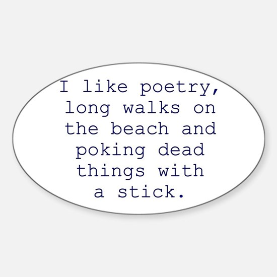 Poetry Oval Decal