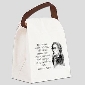 The Writers Against Religion - Edmund Burke Canvas