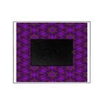 Purple and gold Stars Shower Curtain Picture Frame