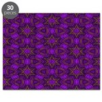Purple and gold Stars Shower Curtain Puzzle