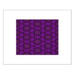 Purple and gold Stars Shower Curtain Small Poster