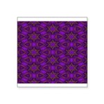 Purple and gold Stars Shower Curtain Square Sticke