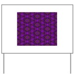 Purple and gold Stars Shower Curtain Yard Sign