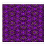 Purple and gold Stars Shower Curtain Square Car Ma