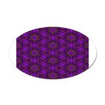 Purple and gold Stars Shower Curtain Oval Car Magn