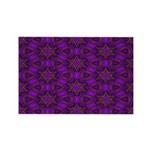 Purple and gold Stars Shower Curtain Rectangle Mag