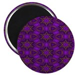 Purple and gold Stars Shower Curtain Magnet