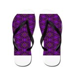 Purple and gold Stars Shower Curtain Flip Flops