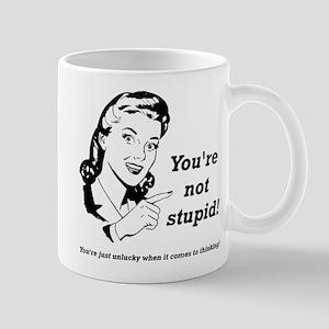 Unlucky Thinker Funny T-Shirt Mug