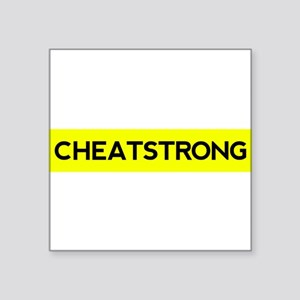 "Cheatstrong Square Sticker 3"" x 3"""