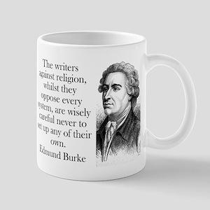 The Writers Against Religion - Edmund Burke 11 oz