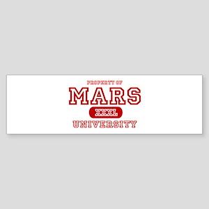 Mars University Property Bumper Sticker
