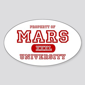 Mars University Property Oval Sticker