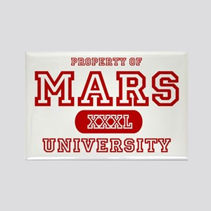 Mars University Property Rectangle Magnet