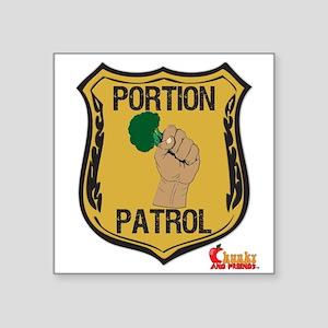 "Portion Patrol Badge Square Sticker 3"" x 3&qu"