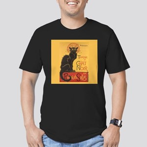 Steinlen Cat Men's Fitted T-Shirt (dark)