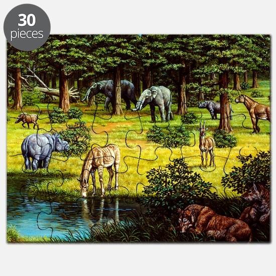 Prehistoric wildlife of the Miocene era - Puzzle